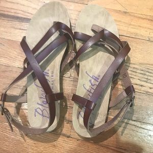 Blowfish brown sandals size 10 never worn